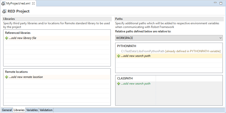 RED - Robot Editor | Eclipse based editor for RobotFramework testcases